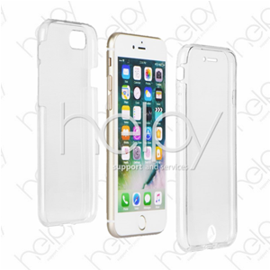 A245 - CUSTODIA 36O ULTRA SLIM AVANTI E INDIETRO IPHONE X TRASPARENTE - Compatibile Apple
